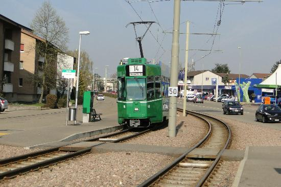 The Mittenza : Tram to Basel