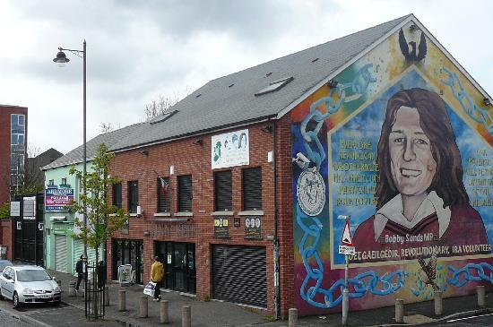 Bobby sands mural picture of falls road belfast for Bobby sands mural belfast