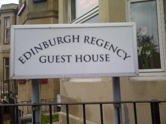 Edinburgh Regency Guest House: sign