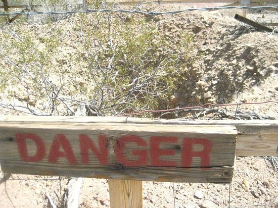 Castle Dome Mines Museum & Ghost Town: DANGER Mineshaft!