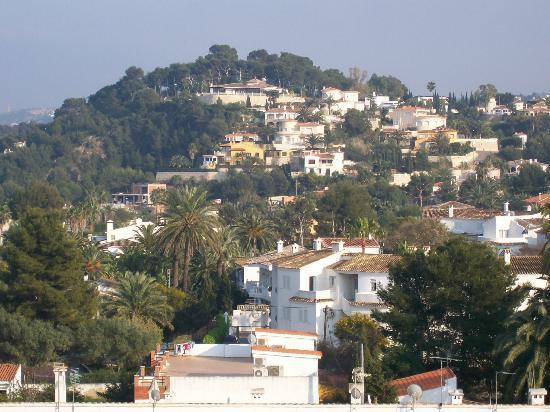 Port Denia : view over Denia from our balcony