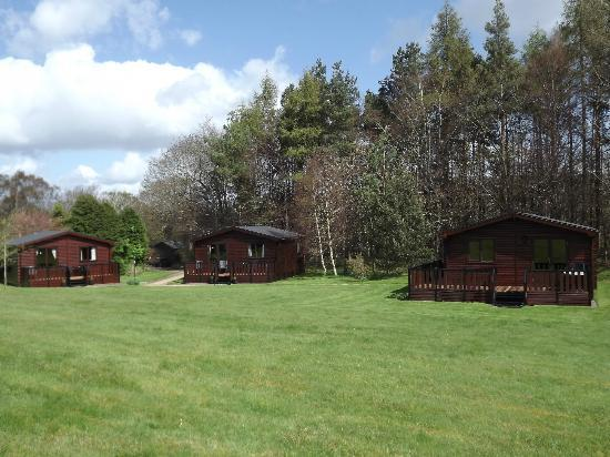 The three lodges in the grounds of The Spinney