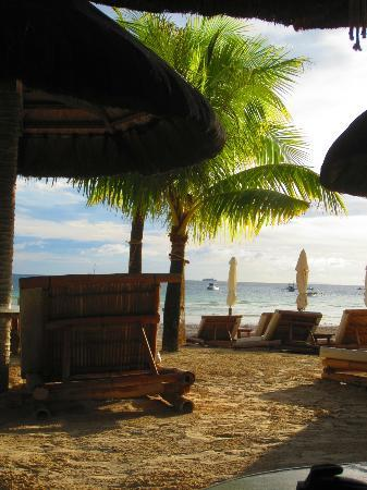 Friday's Boracay: View from lounge chairs on the beach