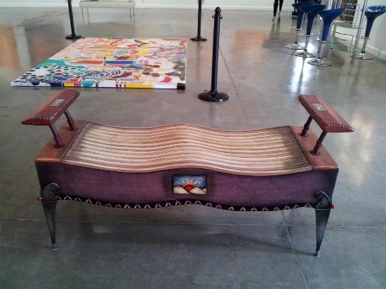 DM Weil Gallery: Funky bench