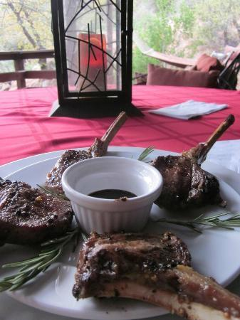 Verde River Rock House Bed and Breakfast: Perfect grilled Lamb