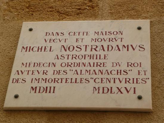 Musee Nostradamus: The commemorative plaque saying Nostradamus lived here, this is all you need to see ;-)