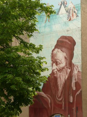 Musee Nostradamus: Nice mural of Nostradamus, Salon-de-Provence