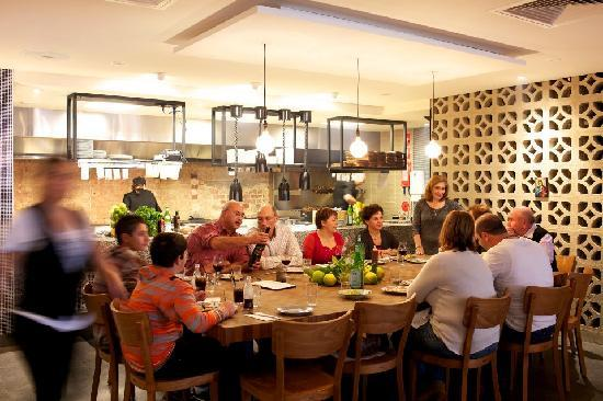 """St Katherine's: Dine with family and friends at """"The Butchers Block"""" - a large table closest to all the action o"""