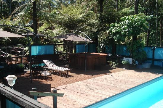 Woodlands Motel & Conference Venue: Enjoy the outdoor pool & spa