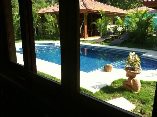 Villas Santa Teresa: View out to pool from kitchen