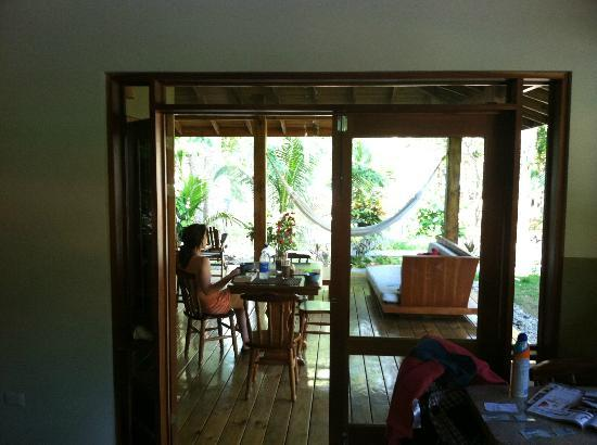 Villas Santa Teresa: Looking out to front deck from kitchen