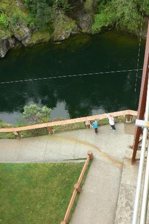 Nanaimo, Canada: Looking down from the bridge