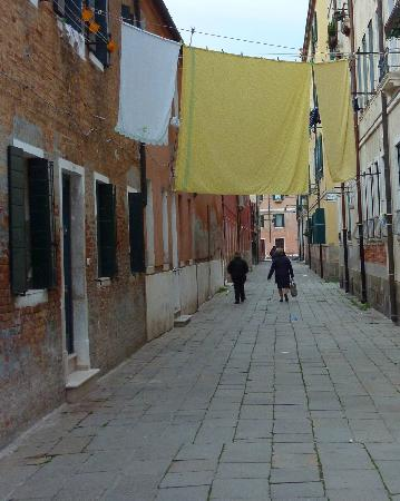 Looking up the street from the Ciprea