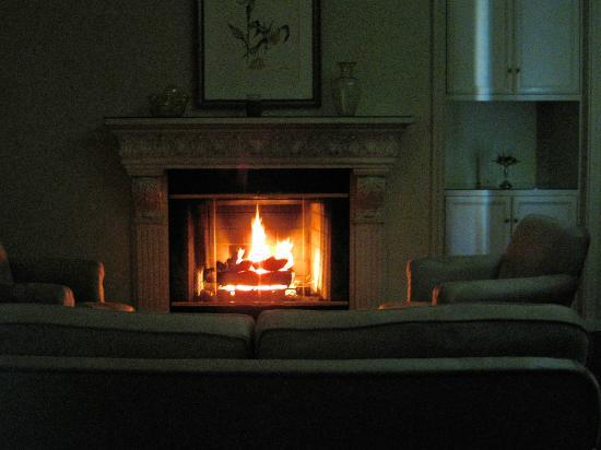 The Willows : Marion Davies room fireplace at night