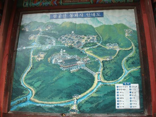 Donghwasa : 案内図