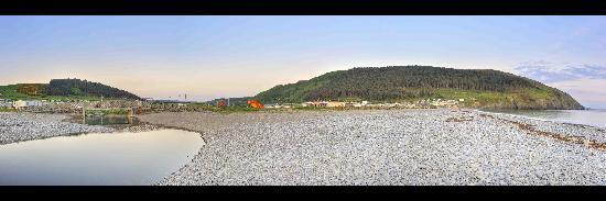 Panoram shot of Clarach beach