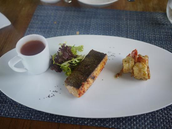 Ithaa Undersea Restaurant: what i ordered...