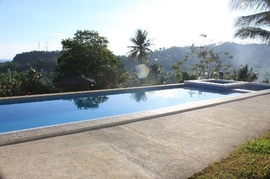 Amihan Villa: view of the pool facing the mountains