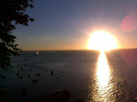 Villa-Bahia Apartments: Abendsonne bei Werner auf der Terrasse