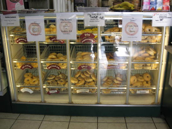 Ashburn Bagel Shop: bagel selection