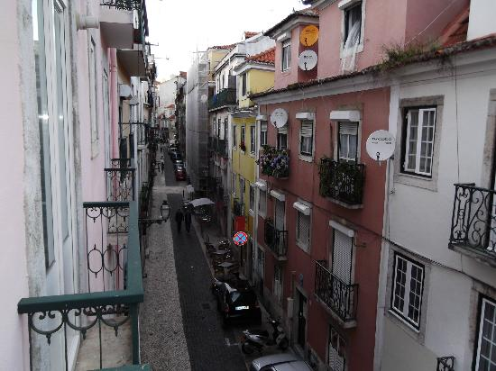 Lisbon Serviced Apartments - Bairro Alto: View from balcony of room 2B - not big enough to stand on though!