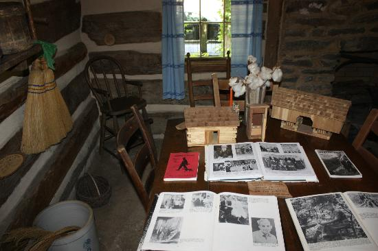Historic Ogle Log Cabin : Inside the Ogle Log Cabin.