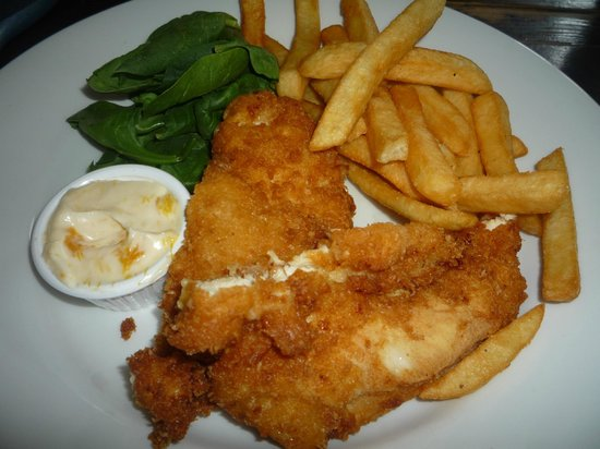The Church Mouse: BATTERED CHICKEN AND CHIPS
