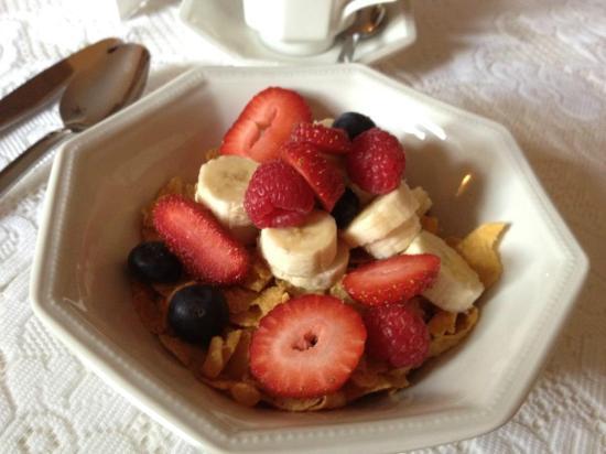 Mandalina at Masham : Cereal with fruit!