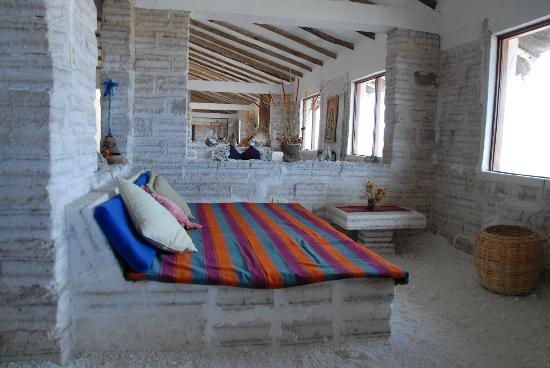 Hotel de Sal Luna Salada: Sitzbereich vor dem Zimmer