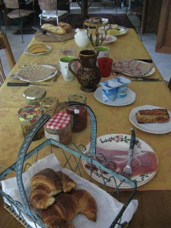 Chez Eric et Sylvie : Breakfast table