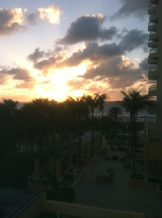 Marriott Stanton South Beach: view from room balcony