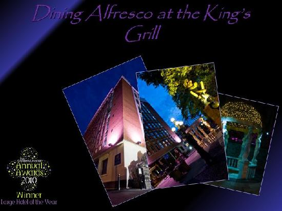 The Kings Grill and Cocktail Lounge: alfresco dinning in Kings Garden