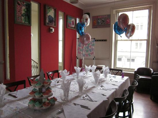the set up for our baby shower at al duomo - picture of al duomo