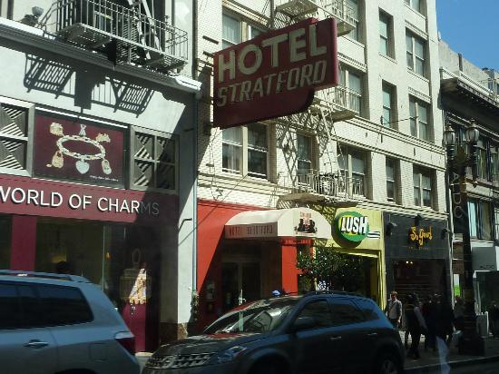 entree sur powell street picture of hotel stratford san. Black Bedroom Furniture Sets. Home Design Ideas
