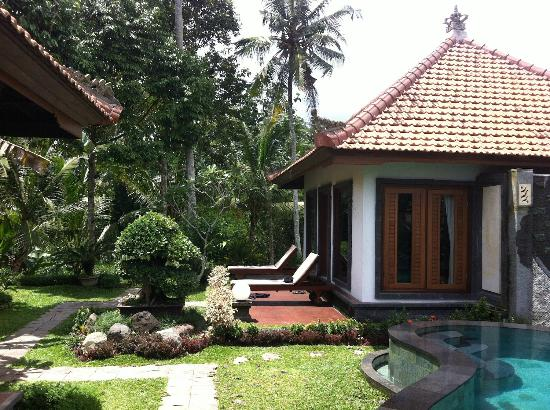 Baruna Sari Villa: view of the villa and backyard/pool