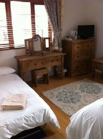 Newton House Bed & Breakfast: spacious room with a king size bed and a fold up bed