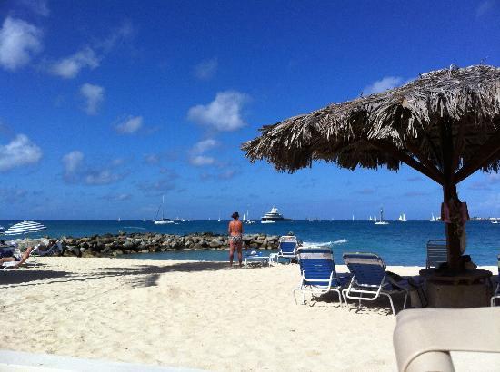 Flamingo Beach Resort : Near the Pool area looking at the Beach also this week 2012 Regatta