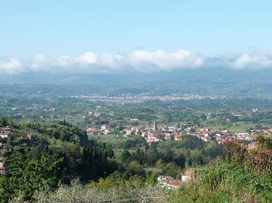 Fattoria La Torre : Vue sur Reggello et la vallée de l'Arno