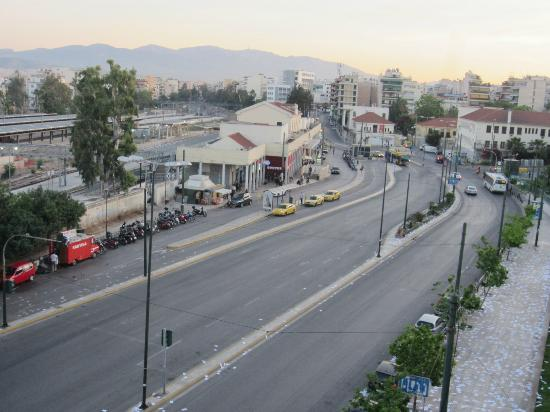 Hotel Ariston: See the Train Terminal and Metro Station from our balcony
