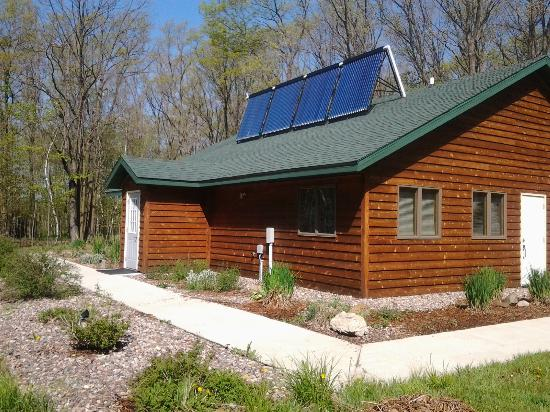 Willard, WI: Solar-powered showers and laundry facilities