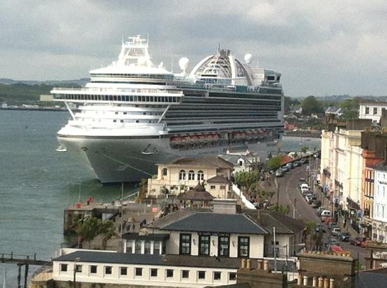 Independence of the Seas Docked In Cobh Harbour - View from Ardeen B&B Cobh Cork