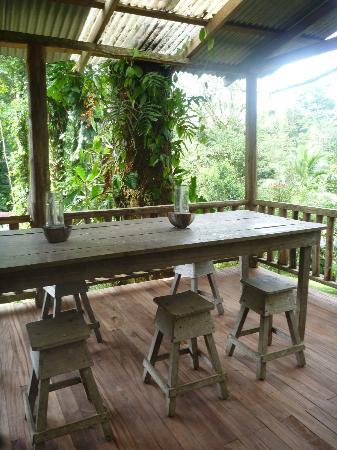La Carolina Lodge : Une belle table dans la forêt!