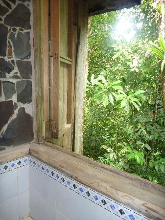 La Carolina Lodge : La douche de la cabane romantique