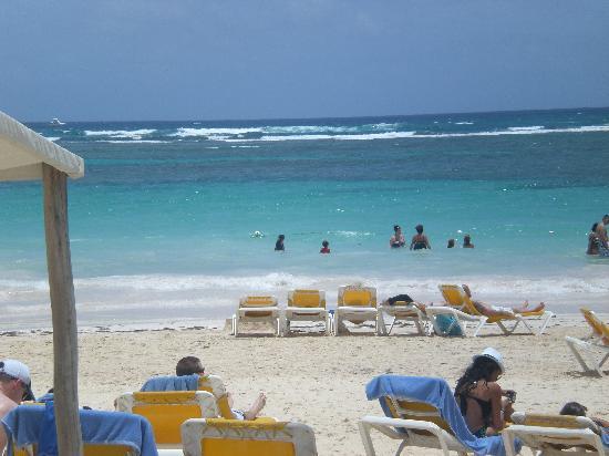 Ocean Blue & Sand: beach view