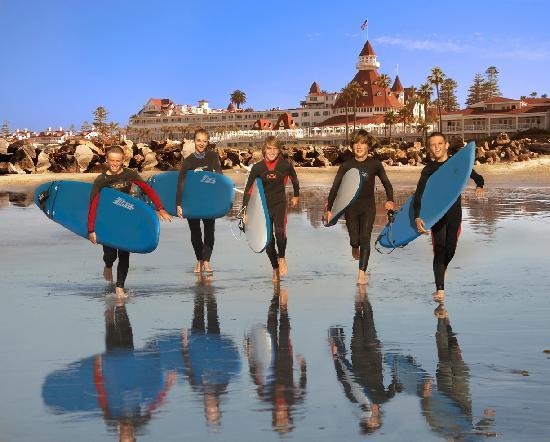 Hotel del Coronado: Surfing on Coronado Beach