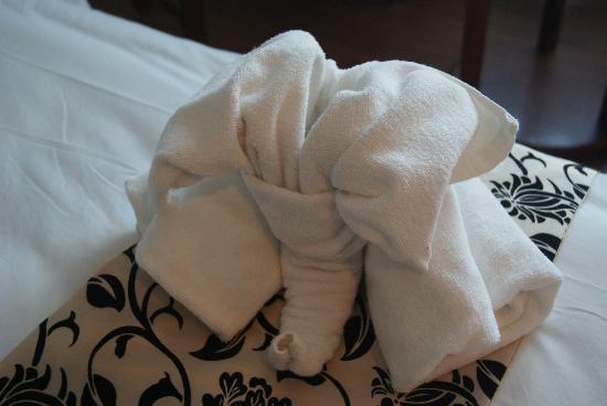 """Sayana Hotel & Spa: """"Elephant"""" towel"""