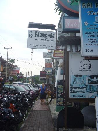 Alamanda Accommodation: ジャランモンキーフォレスト ロータスレーンのそば、jati3の隣 この看板が目印です