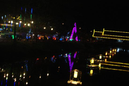 Sayana Hotel & Spa: Night view over the river