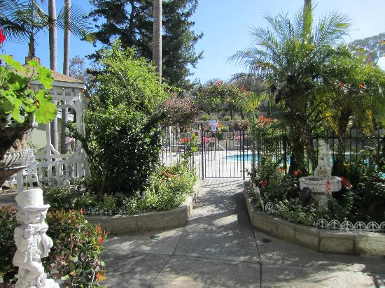 Del Mar, Kalifornien: Entrance to pool area