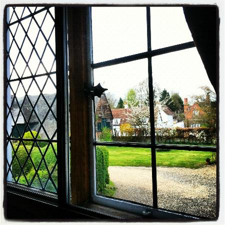 North Moreton House: View of the grounds from the window at the upstairs landing